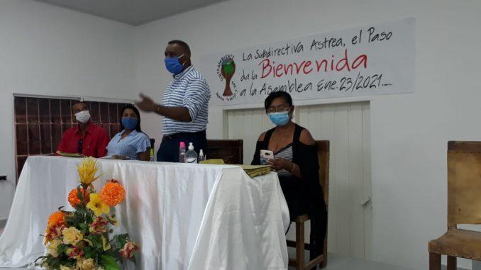 Presidente WILMEN JOSÉ VASQUEZ en plena Oratoria